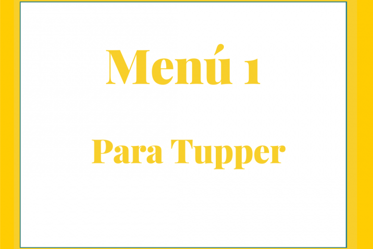 Menú para tupper